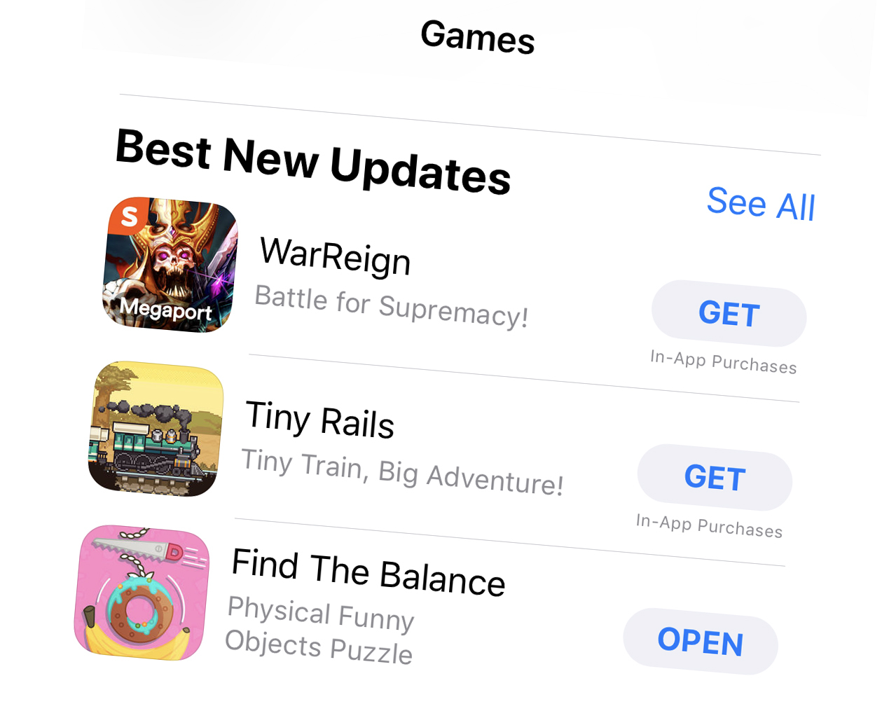 Find The Balance has been featured on the App Store in Best New Updates category!