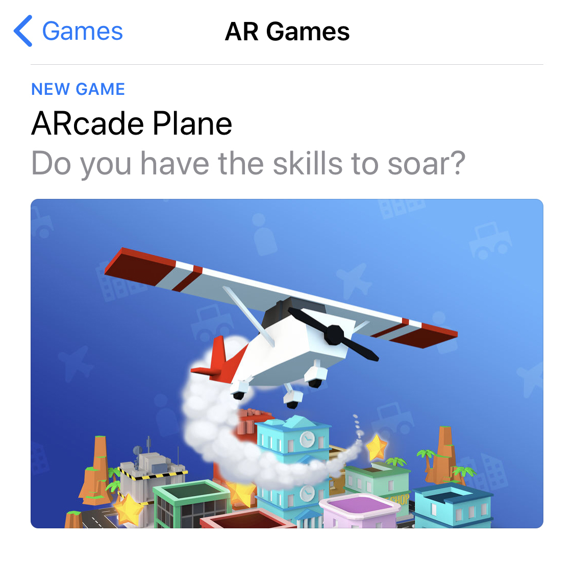 ARcade Plane has took off! Flying high on the AppStore charts