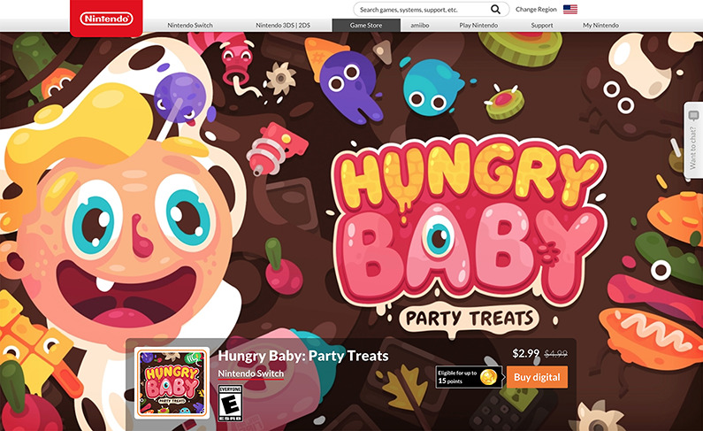 Hungry Baby Nintendo Switch!